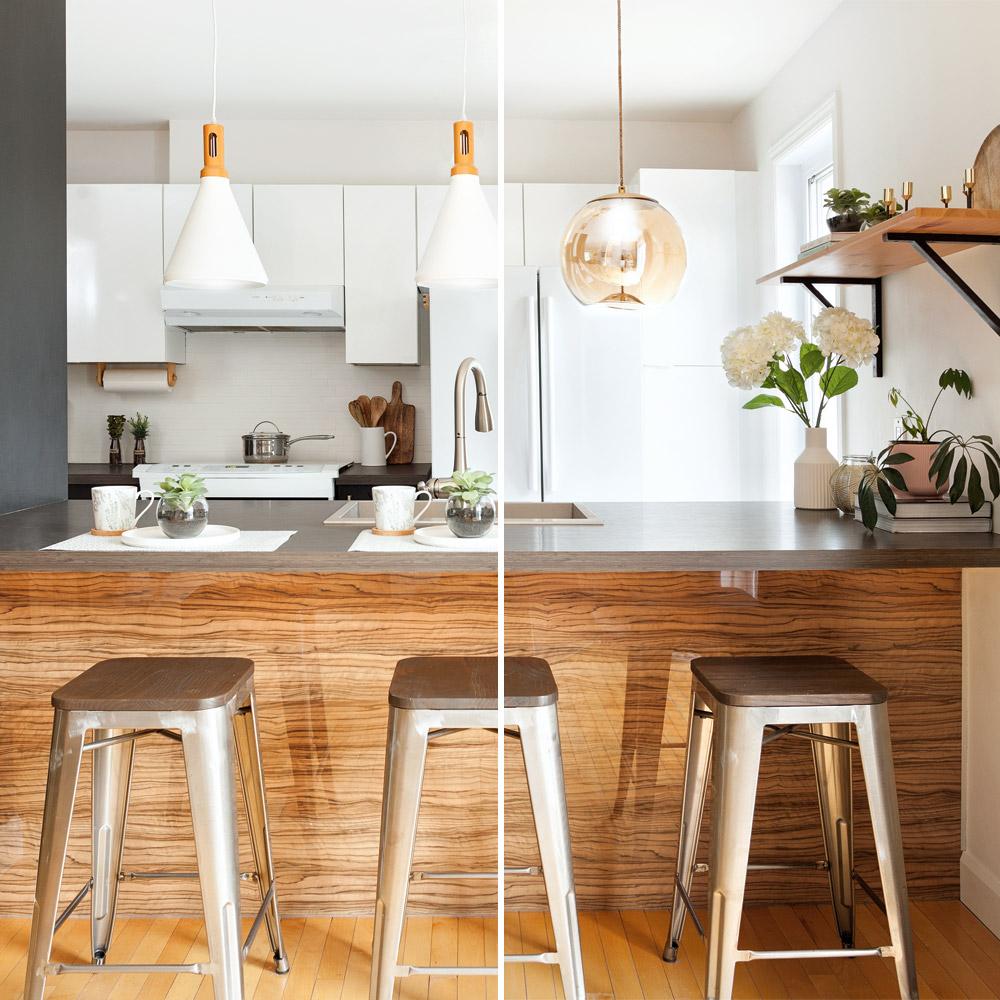 Une cuisine, deux ambiances lumineuses