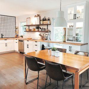 Le style farmhouse moderne dans la cuisine