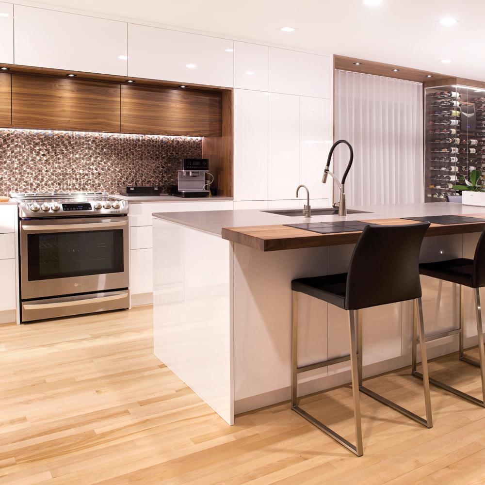 Une cuisine moderne et rassembleuse