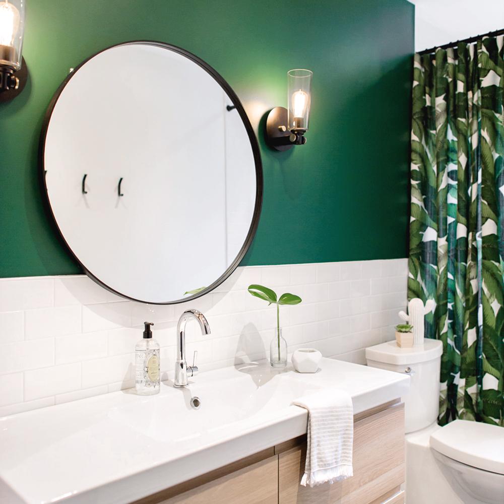 Jungle moderne dans la salle de bain