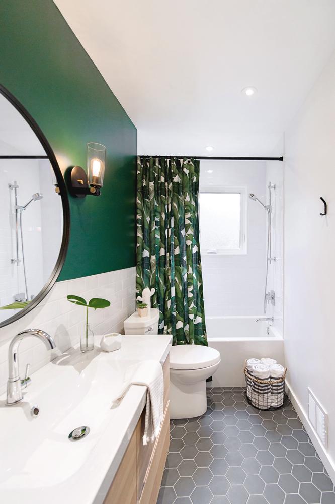 Jungle moderne dans la salle de bain1