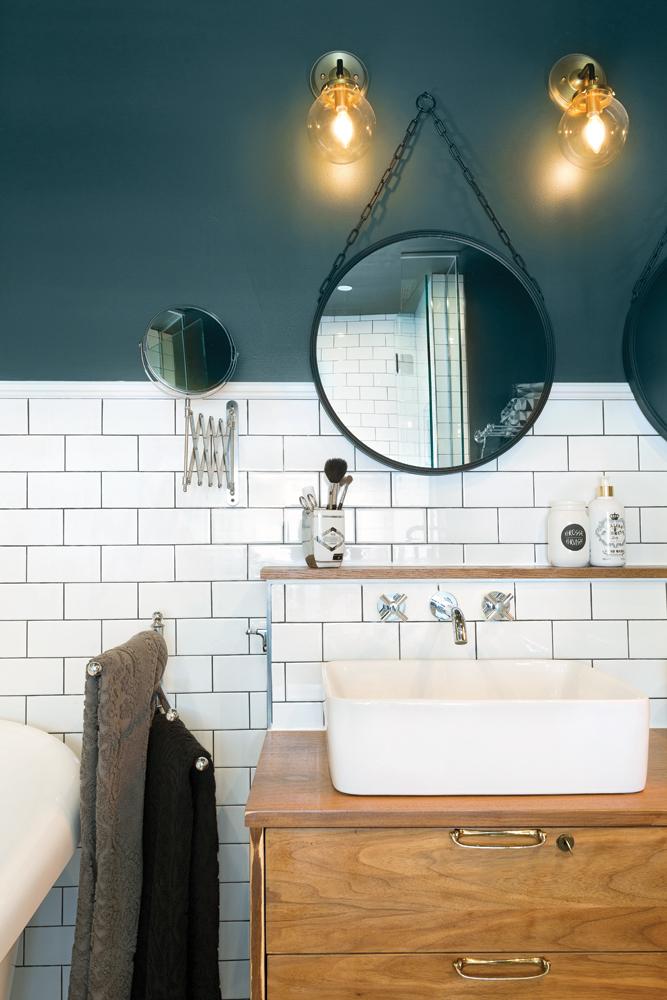 Une salle de bain à l'esprit rétro réinventé2