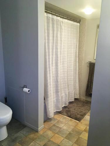 Une salle de bain décloisonnée au style contemporain3