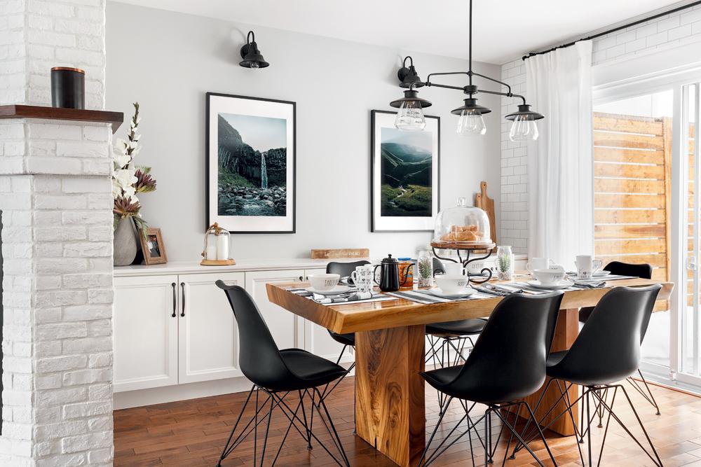 Une cuisine blanc lumineux avec accents de bois1