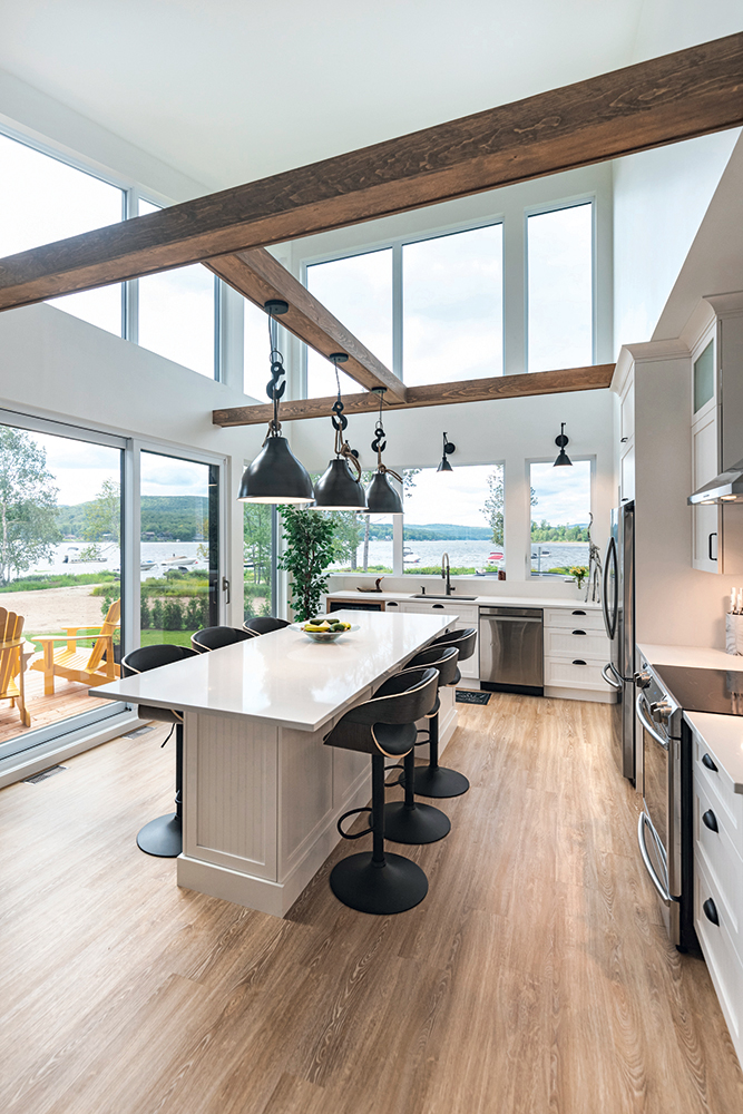 Ambiance Cape Cod dans la cuisine