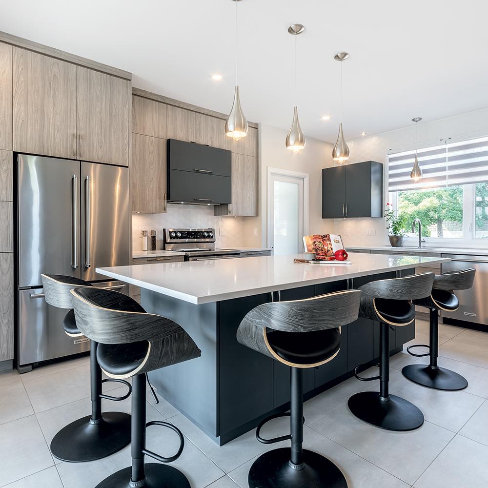 Une cuisine aux nuances de gris