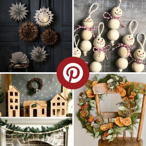 Les 12 plus belles décos de Noël DIY trouvées sur Pinterest