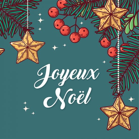 4 cartes de Noël à imprimer!