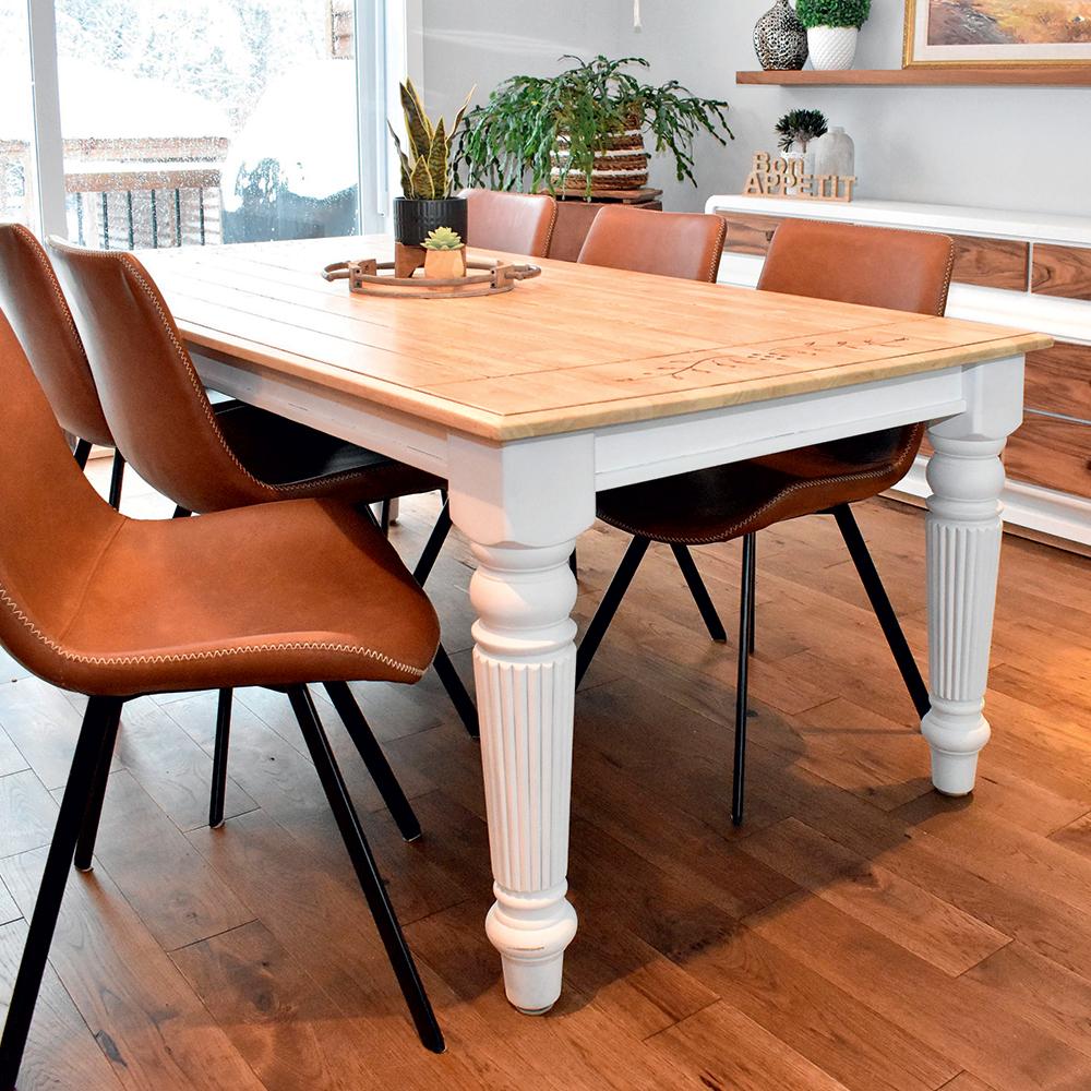 Look farmhouse pour une table