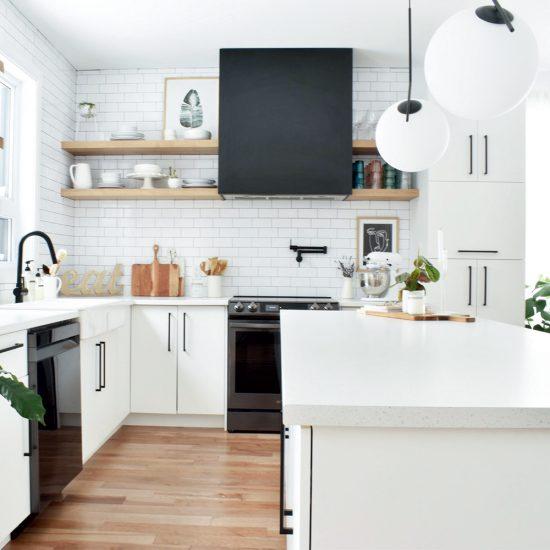 Espace et sobriété dans la cuisine