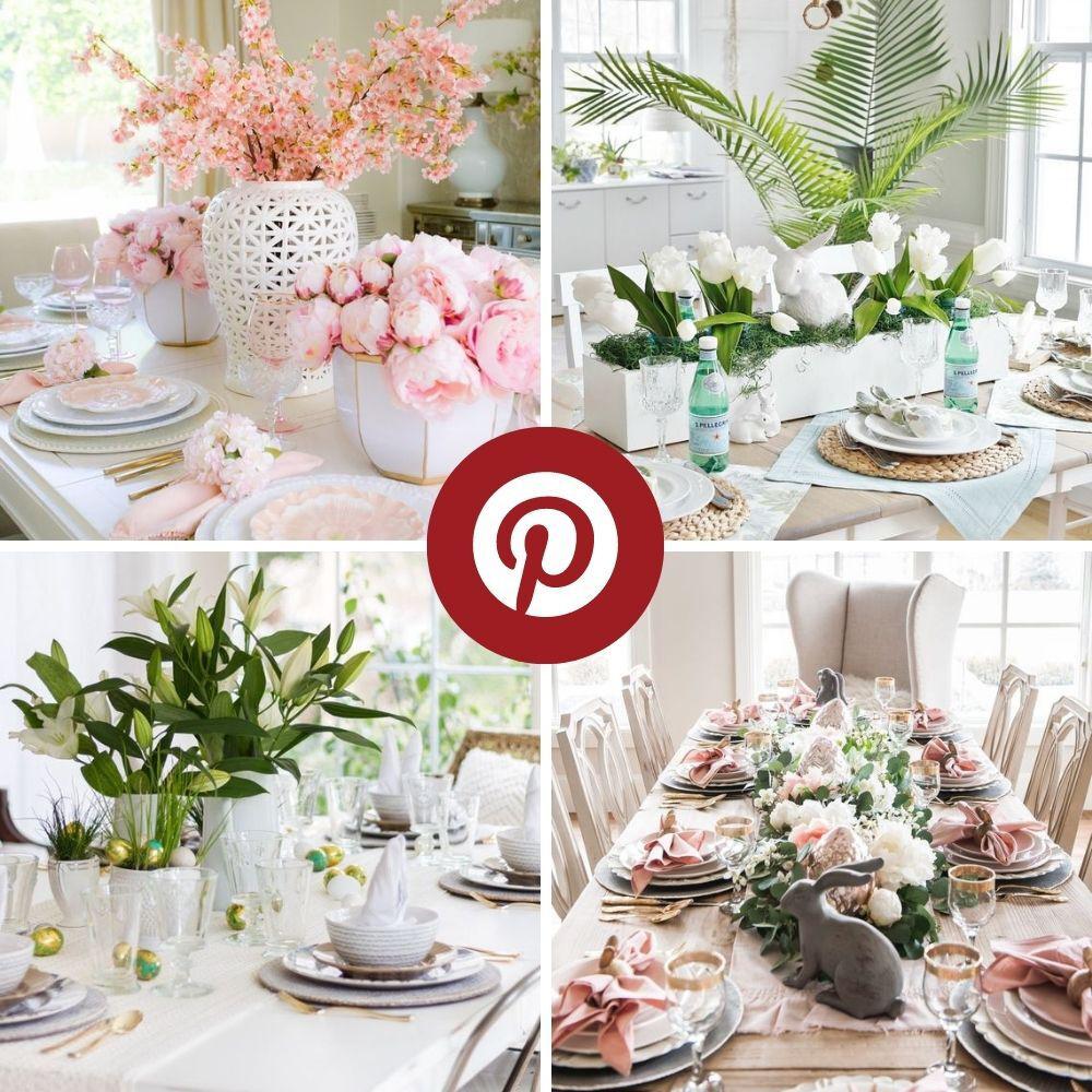 12 tables de Pâques inspirantes trouvées sur Pinterest