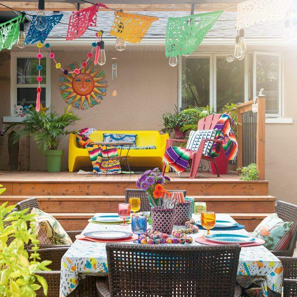 Fiesta mexicaine dans la cour arrière