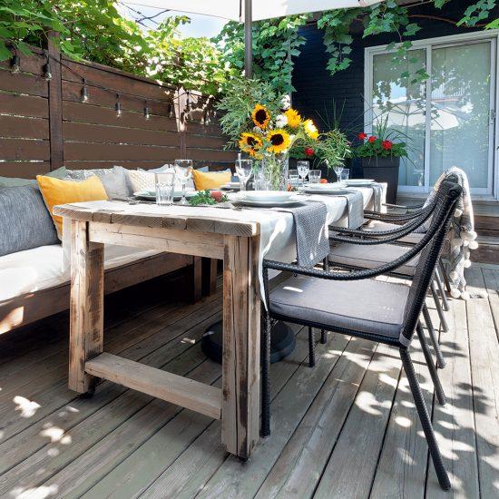 Fabriquer sa table de patio