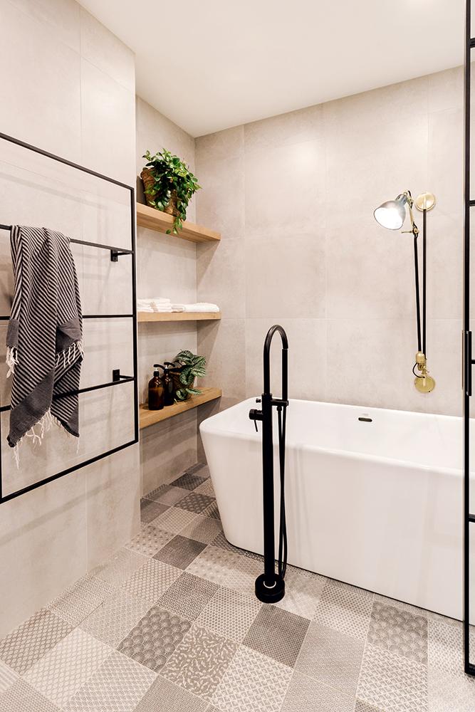 Douche verrière bien intégrée