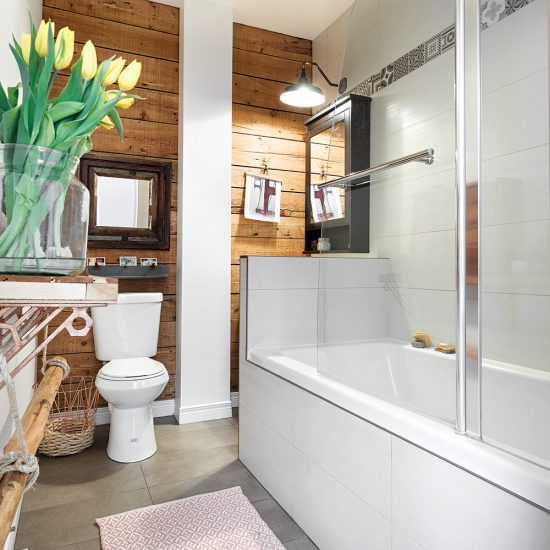Salle de bain de style vintage