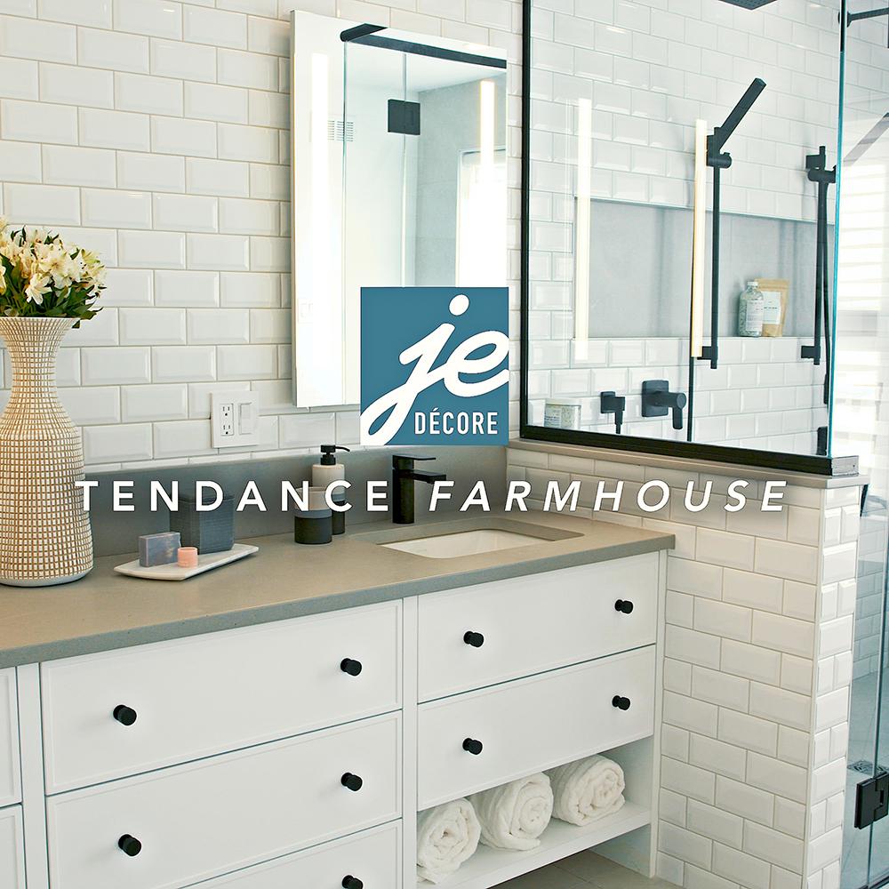 Tendance farmhouse dans la salle de bain