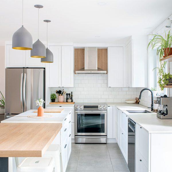 Simplicité scandinave dans la cuisine