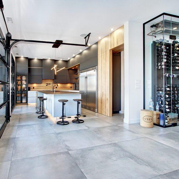 Une cuisine à l'esprit industriel
