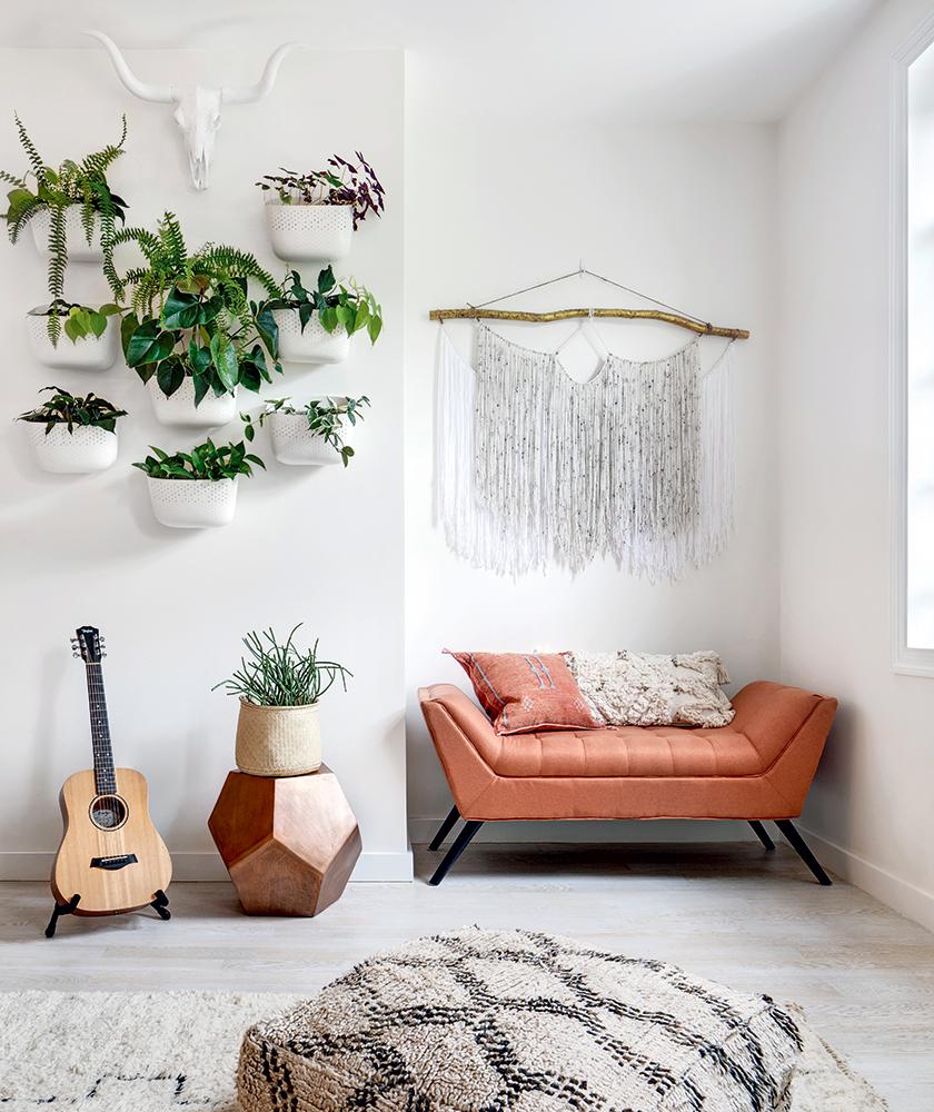 Salon style bohème botanique