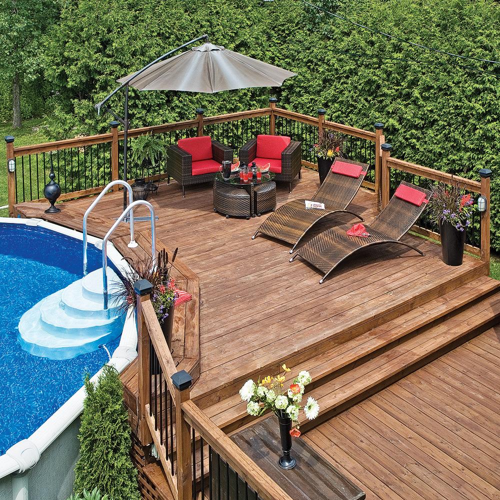 Plaisirs du patio au bord de l'eau
