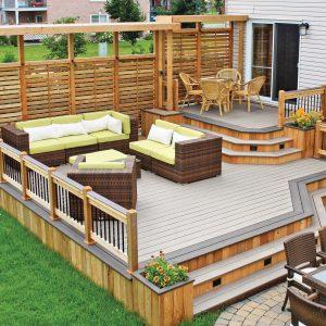 Variations sur deux tons pour le patio