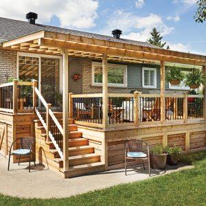 Rallonge trois saisons pour le patio