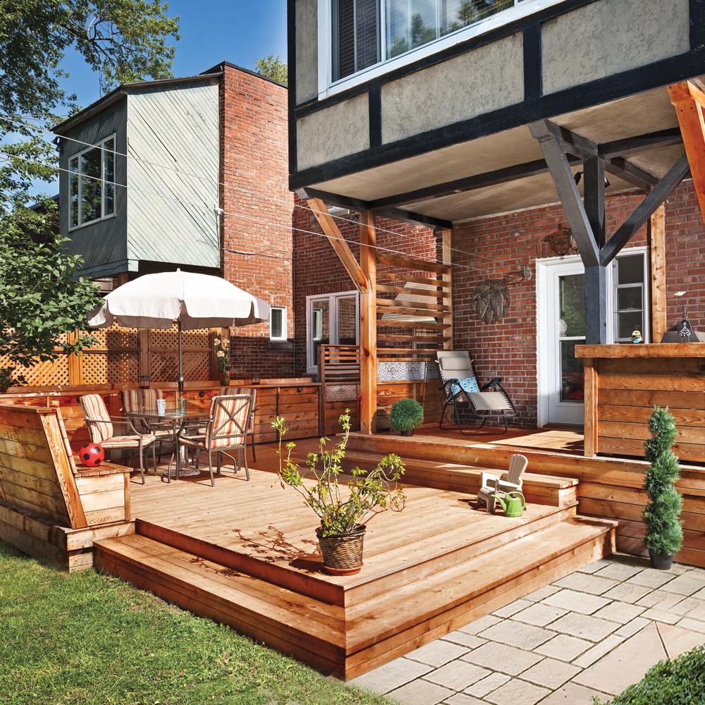 Terrasse en bois multifonction