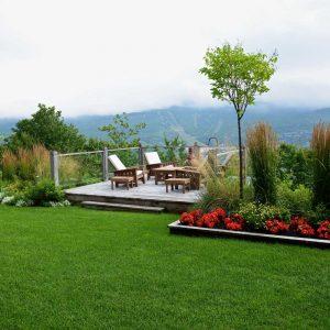 Jardin multi-générationnel en montagne