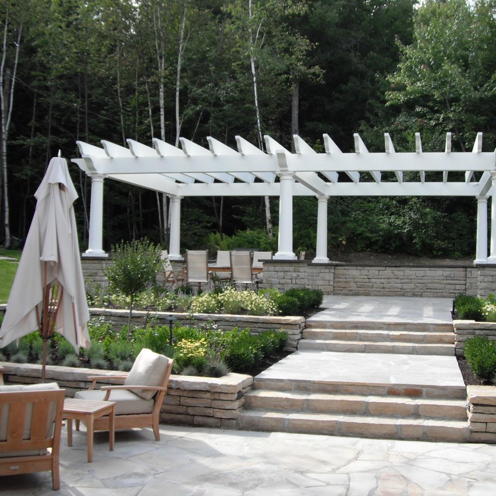 Jardin et terrasses en paliers