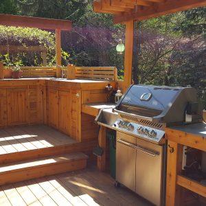 Cuisine-terrasse en bois