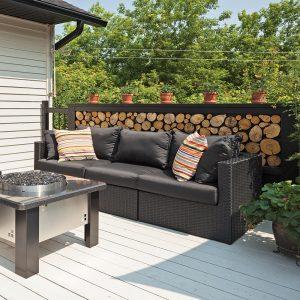 DIY: Muret de rondins ordonnés pour la terrasse