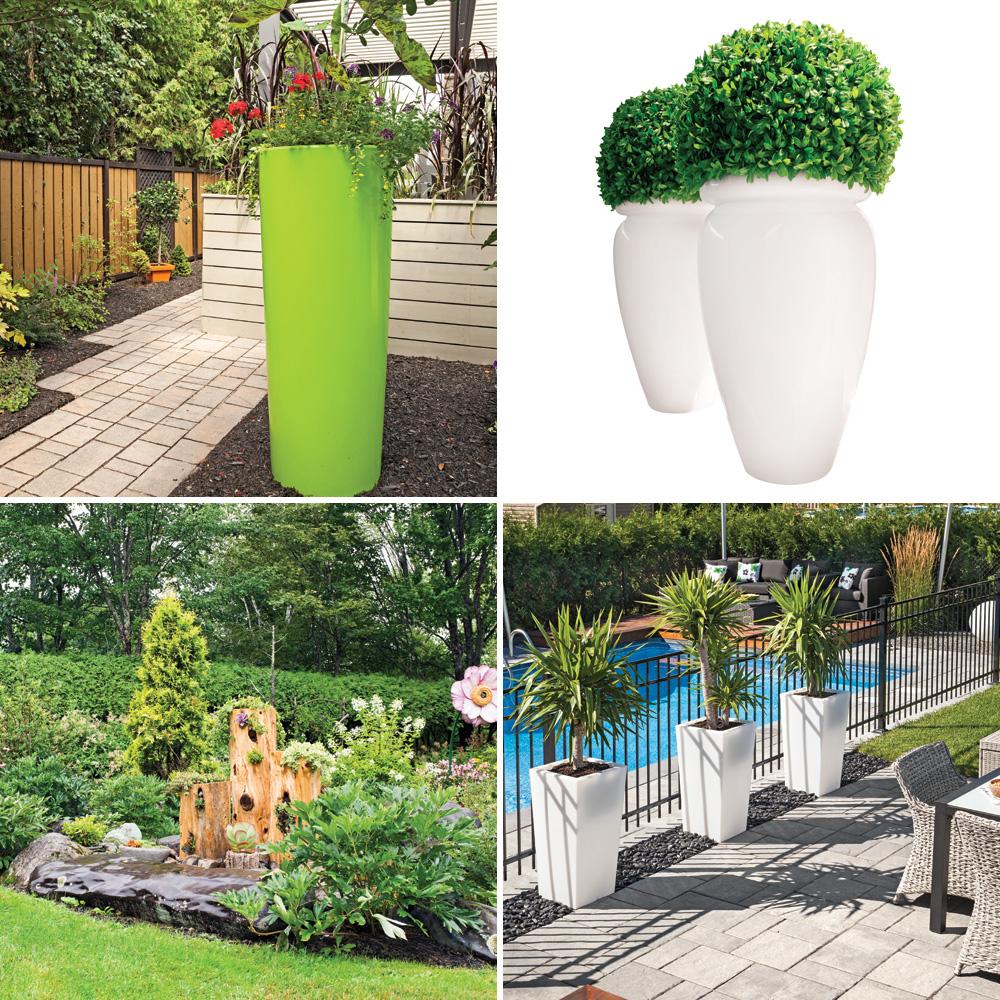 4 bonnes idées pour intégrer des pots au jardin