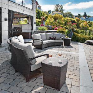 Salon extérieur avec point de vue panoramique
