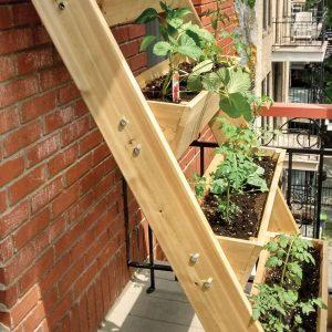Jardinière en échelle bien pensée