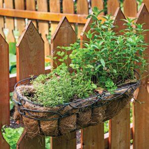 Jardinière à accrocher sur une rampe ou une clôture