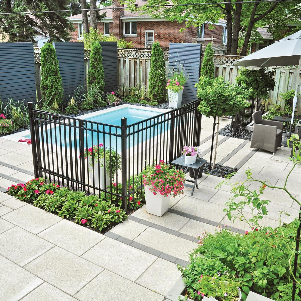 Petit jardin familial chic et urbain