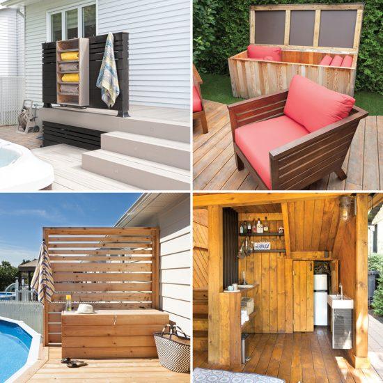 7 rangements astucieux pour le patio
