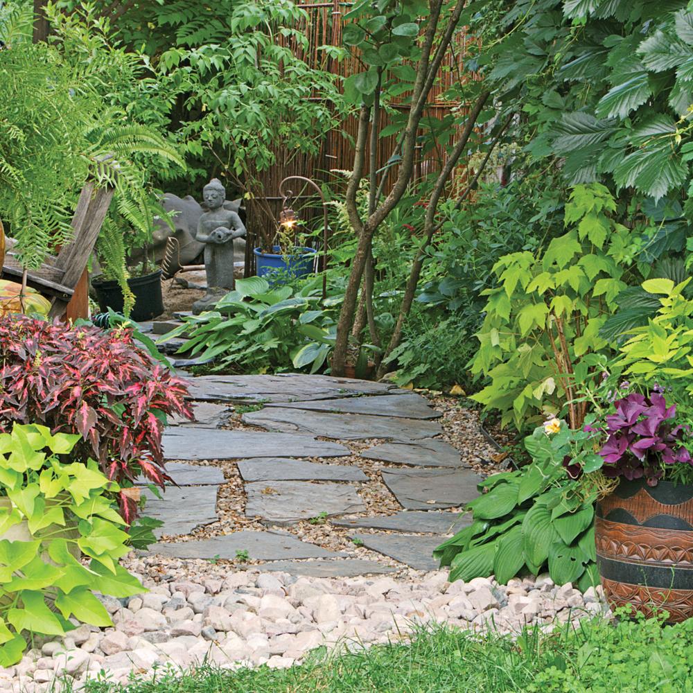 Jardin d'inspiration zen