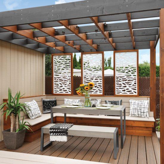 Fonctionnalité multiniveau pour le patio