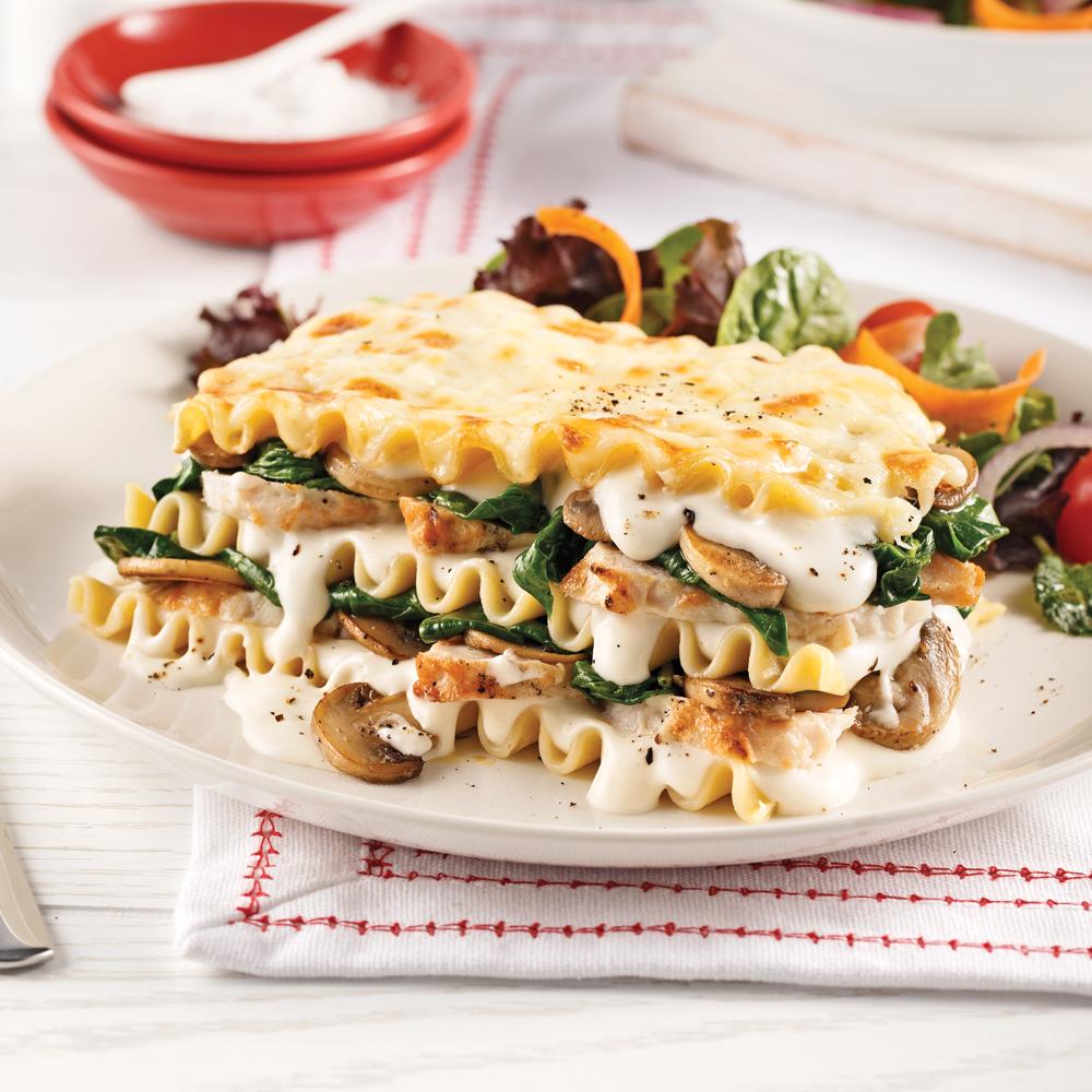 Chicken and Mushroom Lasagna