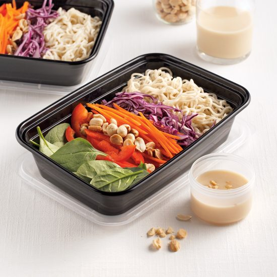 Salade d'épinards et ramen