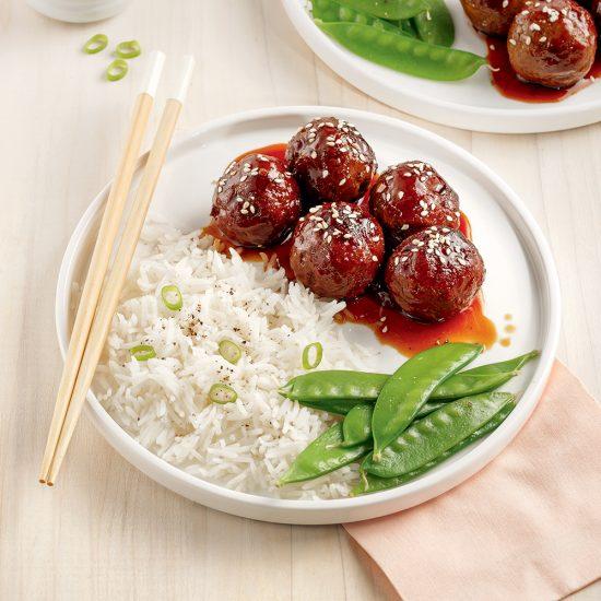 Boulettes de viande à l'asiatique à l'autocuiseur