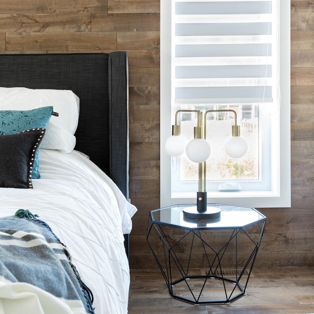 Tendance chambre à coucher meubles géométriques