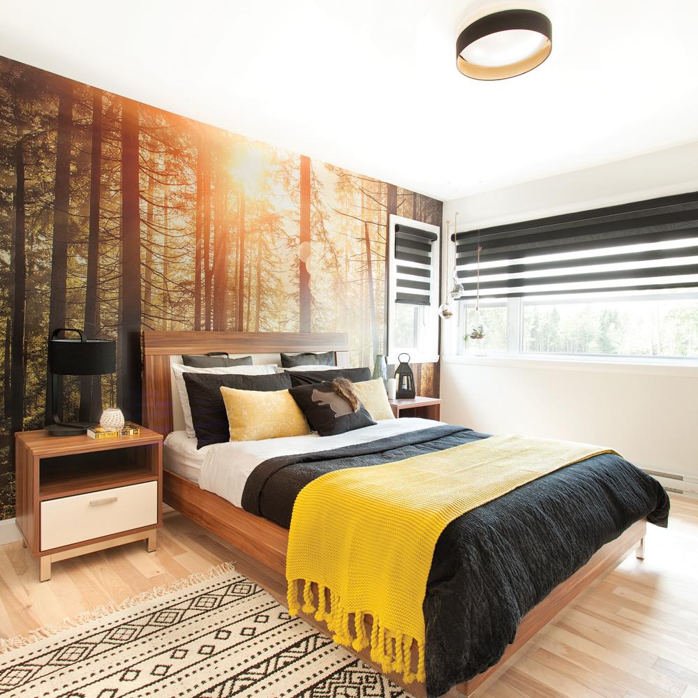 murale forêt chambre à coucher